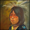Native Boy with Circle Vest