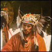 Indian in Featherd Headress