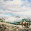 "RIDING TO CALIFORNIA -- Artist: Ernst Ulmer (1922-2009) Size: 24"" x 18"" Price: $3,000.00 reduced to $1,800.00"