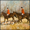 "MORNING WITH THE HOUNDS -- Artist: Ernst Ulmer (1922-2009) Size: 35"" x 30"" Price: SOLD"