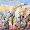 "SOCIAL LIFE OF ORPHANS -- Artist: Marcia Willman Size: 15"" x 11"" Price: $395.00"