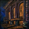 "UNION STATION NOCTURNE -- Artist: Tammie Dickerson Size: 11"" x 14"" Price: $450.00"