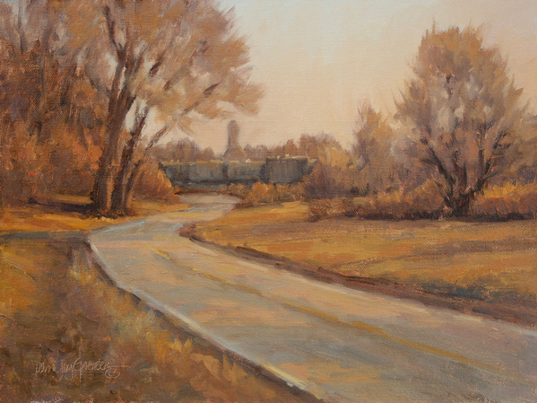 "THE BACK ROAD HOME -- Artist: Debra Joy Groesser Size: 12"" x 9"" Price"