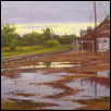"STRONG CITY DEPOT -- Artist: Ken Chapin Size: 20"" x 10"" Price: $620.00"