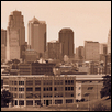 Kansas City Skyline-Sepia