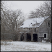 Winter Barn with Snow
