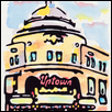 "UPTOWN THEATER -- Artist: Lee Knox Size: 9"" x 12"" Price: $180.00"