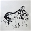 "TWO HORSES -- Artist: Rebecca Tombaugh Size: 8"" x 10"" Price: $15.00 ***SOLD***"
