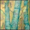 "BLUE BIRCH -- Artist: Mary L Parks Size: 12"" x 12"" Price: $75.00 ***SOLD***"