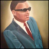 "YOUNG RAY CHARLES -- Artist: Margaretre Gillespie Size: 16"" x 20"" Price: $1,200.00"