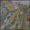 "URBAN SPRAWL -- Artist: David Cooper Size: 29"" x 23"" Price: $2,000.00"