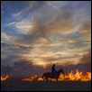 "FIRE UP THE SUNSET -- Artist: Crystal Nederman Size: 24"" x 18"" Price: SOLD"