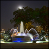 Moon Over Nichols Fountain