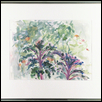 "END OF SUMMER AT THE GARDEN -- Artist: Kathleen Connors Size: 14"" x 10"" Medium: Watercolor Price: $235.00"
