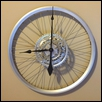 Large Wheel and Cassette Bicycle Clock