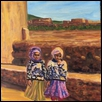 Girls in Hand Knit Sweaters in Morocco