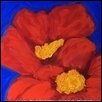 "ULTRAMARINE SKY WITH TWO POPPIES -- Artist: Elisabeth Sauer Size: 24"" x 18"" Price: $750.00"