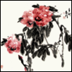 "RED PEONY FLOWERS -- Artist: Zhiming Fu Size: 27"" x 27"" Medium: Pen/Ink Price: $2,000.00"
