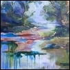"SECRET POND -- Artist: Gloria Gale Size: 18"" x 24"" Price: $300.00"