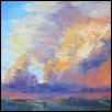 "STORM OVER FLINT HILLS -- Artist: Jacqueline Smith Size: 12"" x 9"" Price: $375.00 **SOLD**"