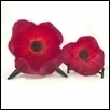 Glowing deep Red Poppy Bowls