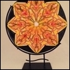 Yellow Patterned Abstract Flower Sculpture