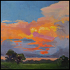 "SUNSET OVER THE PRAIRIE -- Artist: Jacqueline Smith Size: 14"" x 11"" Price: $325.00 ***SOLD***"
