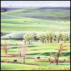 "MORNING GRAZING IN THE FLINT HILLS -- Artist: C T (Fred) Hsia Size: 36"" x 20"" Medium: Oil Price: $980.00"