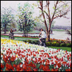 "SPRING IN ENSLEY GARDEN, TOPEKA -- Artist: C T (Fred) Hsia Size: 20"" x 12"" Price: $880.00"