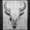 "BISON SKULL -- Artist: Gregory Lee Size: 16"" x 20"" Price: $800.00"