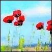 "POPPIES IN THE SKY -- Artist: Leah Lambart Size: 14"" x 11"" Price: $250.00"