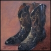 "SATURDAY NIGHT -- Artist: Cindy Shaw Size: 12"" x 12"" Price: $595.00"