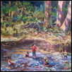 "DAY AT THE CREEK -- Artist: Eileen McCoy Size: 14"" x 11"" Price: $595.00"