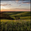 "PANO - FLINT HILLS SUNSET -- Artist: Scott Bean Size: 60"" x 30"" Price: SOLD"