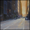 "DOWNTOWN AT DUSK -- Artist: Kimbell McCurry Size: 24"" x 18"" Price: $1,800.00"