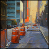 "STREET REPAIRS -- Artist: Kimbell McCurry Size: 16"" x 20"" Price: $1,600.00"