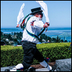 Traditional Morris Folk Dancer