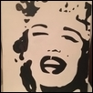 "MARILYN IN B & W -- Artist: KevinAnne Taylor Size: 11"" x 14"" Price: $125.00"