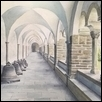 "CLOISTER -- Artist: Gregory Larson Size: 12.7"" x 8.9"" Price: $725.00"