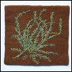 "ODE TO ANCIENT PLANTS -- Artist: Kennita Tully Size: 8.5"" x 8"" Medium: Fiber, Jewellry/Wearable Art Price: $325.00"