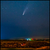 "COMET NEOWISE OVER FLINT HILLS -- Artist: Ken Stafford Size: 30"" x 20"" Medium: Photography Price: $260.00"