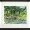 "POND AND SHELTER HOUSE -- Artist: Donavon Blake Size: 14"" x 11"" Medium: Watercolor Price: $275.00"